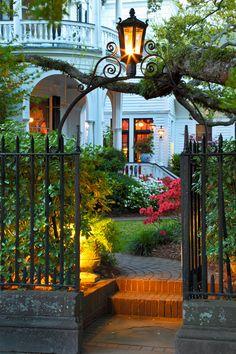 Garden Gate with Lantern
