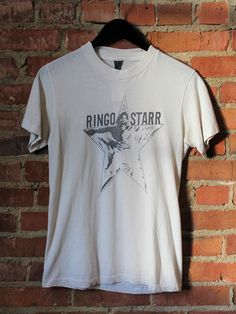 f0334aa8b2ca Vintage 70's Ringo Starr Promo Concert T Shirt Ringo Starr, Vintage 70s