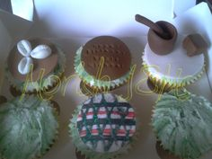 #africa inspired #vanilla #cupcakes #large #pistalandmorta #pistal #morta #woodeffects #shell #pattern