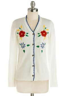 *****IT WAS SO HOT IT SWAPPED WITH Jen Grover Huckaby***** Primary Petals Cardigan By Bea & Dot - Size Medium - Limited Swap