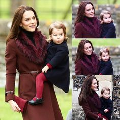 25 December 2016 One-year-old Princess Charlotte was making funny faces at the cameras as her mother took her into the St Mark's Church in Englefield, Berkshire