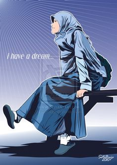 Gambar Akhwat Proud To Be A Muslimah Auto Design Tech Hijab Drawing, Drawing S, Islam For Kids, I Have A Dream, Girl Cartoon, Animation, Design Tech, Auto Design, Deviantart