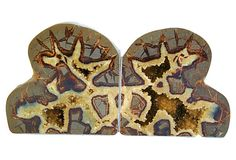 $345 Septarian  Dragonstone  Geode Bookends on OneKingsLane.com