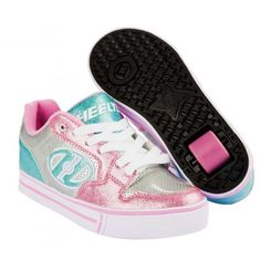 a2e3e87cfef Heelys Motion Plus Shoes - Silver   Light Pink   Light Blue - CLEARANCE