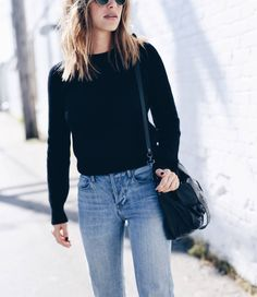 black sweater with jeans | THE AUGUST DIARIES