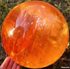 Iceland Spar Crystal Ball