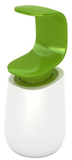 Amazon.com - Joseph Joseph C-Pump Single-Handed Soap Dispenser, White and Green - Countertop Soap Dispensers