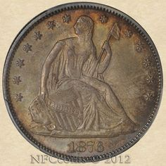 1876 Seated Liberty Half MS65 PCGS, obverse Gold And Silver Coins, Metal Detecting, World Coins, Rare Coins, Coin Collecting, Liberty, Bronze, Military, Type