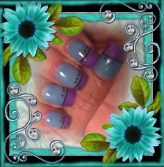 Nails by Shannon Nielsen w/ Angel Love Product Line .... A totally beautiful ......
