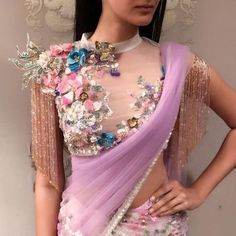 101 trending blouse designs for all occasions saree blouse patterns bling sparkle. Sari Blouse Designs, Saree Blouse Patterns, Fancy Blouse Designs, Bridal Blouse Designs, Shagun Blouse Designs, Latest Blouse Designs, Blouse Designs High Neck, Indian Fashion Dresses, Indian Designer Outfits