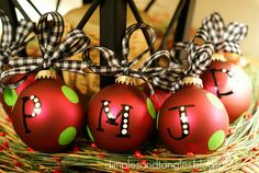 cute painted ornaments