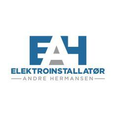 Vår nye logo design til Elektroinstallatør Andre Hermansen! #logokompaniet #LogoDesign