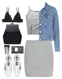 Untitled #2577 by wtf-towear on Polyvore featuring polyvore, fashion, style, Topshop, Boohoo, Monki, adidas Originals, Zara and Dot & Bo