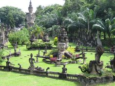 The Buddha Park Garden, Laos