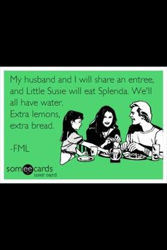 We all want Waters & Budget Meals & lots of Lemons & more sugar
