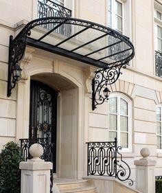 Institute of Classical Architecture & Art Design Entrée, Roof Design, House Design, Balustrade Balcon, Balustrades, Entrance Design, Entrance Gates, Art Nouveau Architecture, Architecture Design