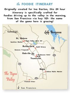 Fun spin on a favorite itinerary in Napa area!