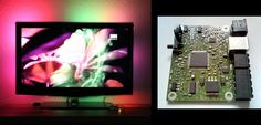 Ambilight clone uses video pass-through; needs no computer | Hackaday