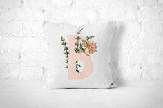 Letter B Pillow Monogram Pillow Personalized by FrankiePrintCo