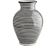 Setzen Sie ausgefallene Akzente: Shoppen Sie die gestreifte Vase Monique und weitere Vasen für Ihre Blumen von TINE K HOME auf >> WestwingNow.
