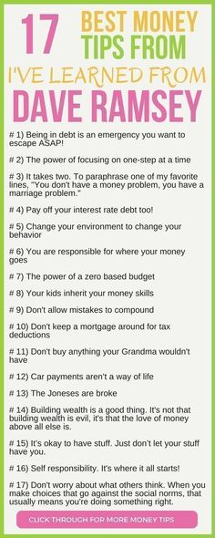 CHECK THIS OUT! 17 of the best money tips from Dav... - #Check #Dav #daveramsey #money #Tips