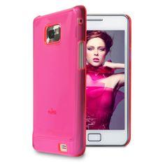 PURO Crystal Fluo Cover [Pink], Etui dla GALAXY S2