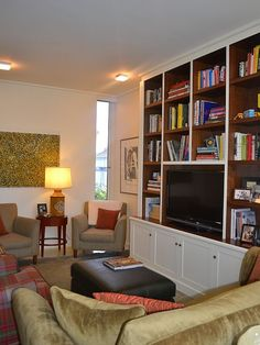 Bookshelves. I would love to have one in my living room...any suggestions?