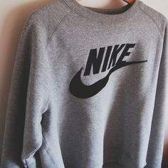 nike shoes Women Fashion NIKE Round Neck Top Pullover Sweater Sweatshirt
