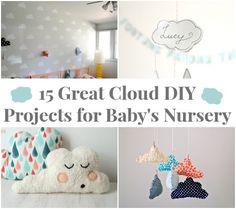 15 Awesome #DIY Cloud Projects! #creativemamas #nurseryDIYs