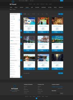 N-Travel - Psd Template by Zizaza - design ocean , via Behance
