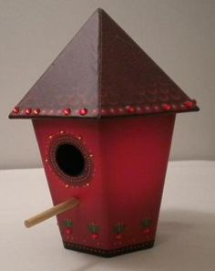Nordstrom Christmas Bird House Store Display Jewelled Red Birds in Winter | eBay