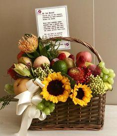 Well Wishes Basket Fruit Flower Basket, Fruit Box, Fruits Basket, Cactus Flower, Diy Gift Baskets, Fruit Gift Baskets, Fruit Hampers, Basket Gift, Get Well Soon Basket