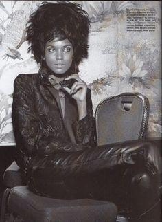 "Vogue Italia August 2006 ""Liya Kebede photographed by Richard Burbridge and styled by Joanne Blades"" Beauty Photography, Fashion Photography, Richard Burbridge, Latina Models, Liya Kebede, Mario Sorrenti, Ethnic Hairstyles, Editorial Hair, Vogue Us"