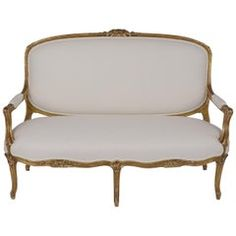 Antique French Louis XVI Gilt Sofa Louis Xvi, Linen Sofa, Linen Fabric, Modern Floor Mirrors, Plywood Chair, Black Sofa, Folding Chair, Sofa Furniture, French Antiques