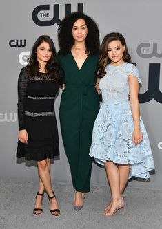 Get A First Look at Sarah Jeffery's New 'Charmed' Series!: Photo Sarah Jeffery looks lovely in a powder blue dress as she arrives for the 2018 CW Network Upfront held at The London Hotel on Thursday (May in New York City. Charmed Tv Show, New Charmed, Poppy Drayton, Powder Blue Dress, Sarah Jeffery, Charmed Sisters, Asian Lingerie, Fantasy Art Women, The Cw