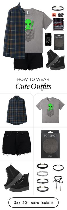 """""""Ugh... school again"""" by lukeisalibero on Polyvore featuring Boohoo, Manic Panic NYC, Topshop, Casetify and Uniqlo"""