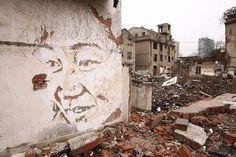Vhils New Murals In Shanghai, China