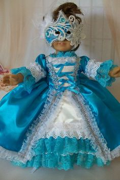 OOAK Masquerade Costume for American Girl Dolls