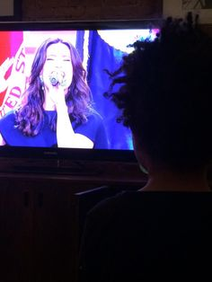 """""""Yup. Baby mama crushed it at the Super Bowl.""""- Walker watching his mom sing!"""