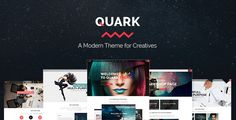 Download Free              Quark - A Modern Theme for Creatives            #               agency #animation #art #business #colorful #creative #design #gaming #modern #multipurpose #photography #portfolio #professional #responsive #shop