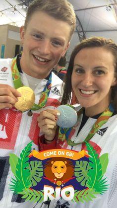 Liked 1,768 times  Becky AdlingtonVerified account @BeckAdlington  10h10 hours ago What an amazing snapchat photo @JazzCarlin @adam_peaty !!!! Olympic medalists!!!
