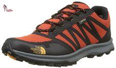 The North Face T92Y8UTHU 10, Chaussures de Randonnée Basses Homme, Multicolore (Tnf Black/Tibetan Orange), 43 EU - Chaussures the north face (*Partner-Link)