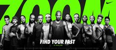 Nike – Find Your Fast By Wieden + Kennedy Katarina Johnson Thompson, Persuasive Text, Allyson Felix, Business Slogans, Nike Ad, Fast Day, Nike Air Zoom Pegasus, Sports Graphics