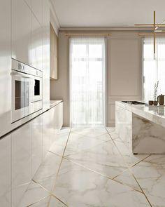 + kitchen design ideas for your 2019 home renovation The kitchen should be the heart of every home. That's why we have gathered the most beautiful modern kitchen design ideas for your 2019 home renovation. Stylish Kitchen, Modern Kitchen Design, Interior Design Kitchen, Modern Interior, Interior Decorating, Marble Interior, Gold Interior, Asian Interior, Lobby Interior