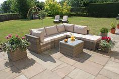 maze rattan winchester corner sofa set
