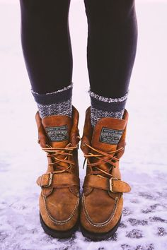 15 awesome winter boots 2018 that look warm and comfort to make the total appearance become trendy but also stunning and protected too. Sock Shoes, Cute Shoes, Me Too Shoes, Shoe Boots, Moccasin Boots, Ralph Lauren Stiefel, Ralph Lauren Boots, Winter Wear, Autumn Winter Fashion