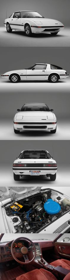 1981 Mazda RX-7 / Japan / white blue red