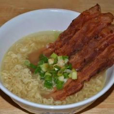 Ramen with bacon