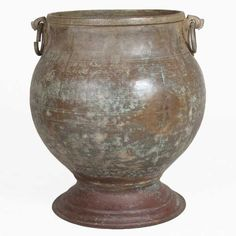 South indian hand hammered copper water pot.