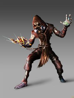 Scarecrow   Batman Arkham Asylum.. My next halloween costume.  I just need to maek it first, good thing I have time.